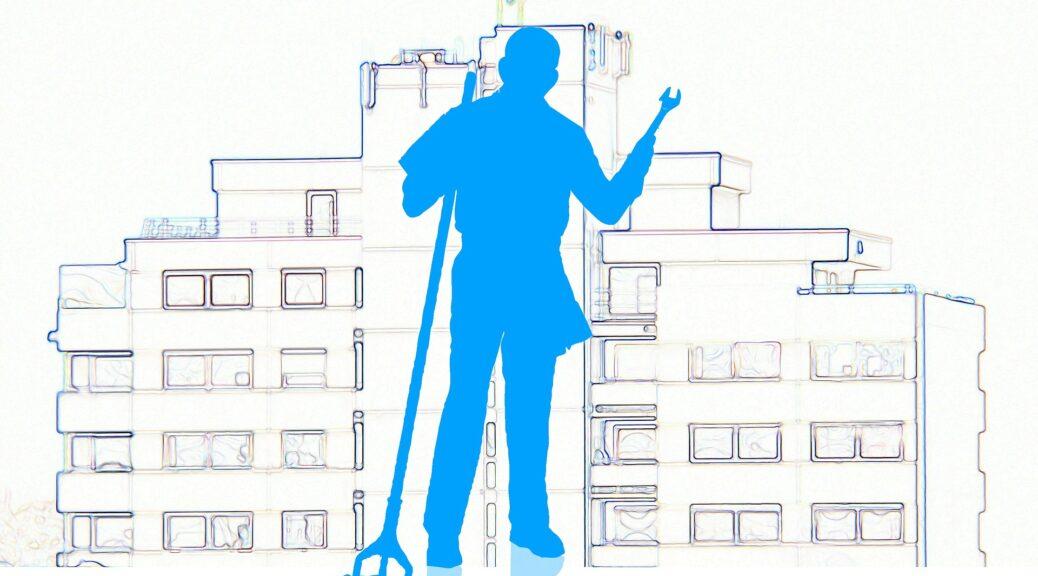 Abbildung Haus und Wischmob